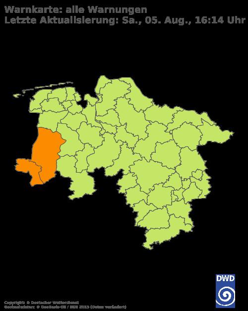 Aktuelle Wetterwarnungen für Northeim